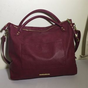 Steve Madden orchid colored tote